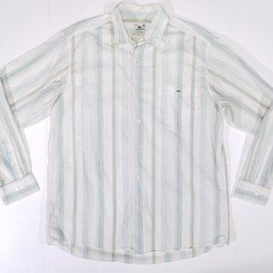 Lacoste Striped Casual Button Up Shirt